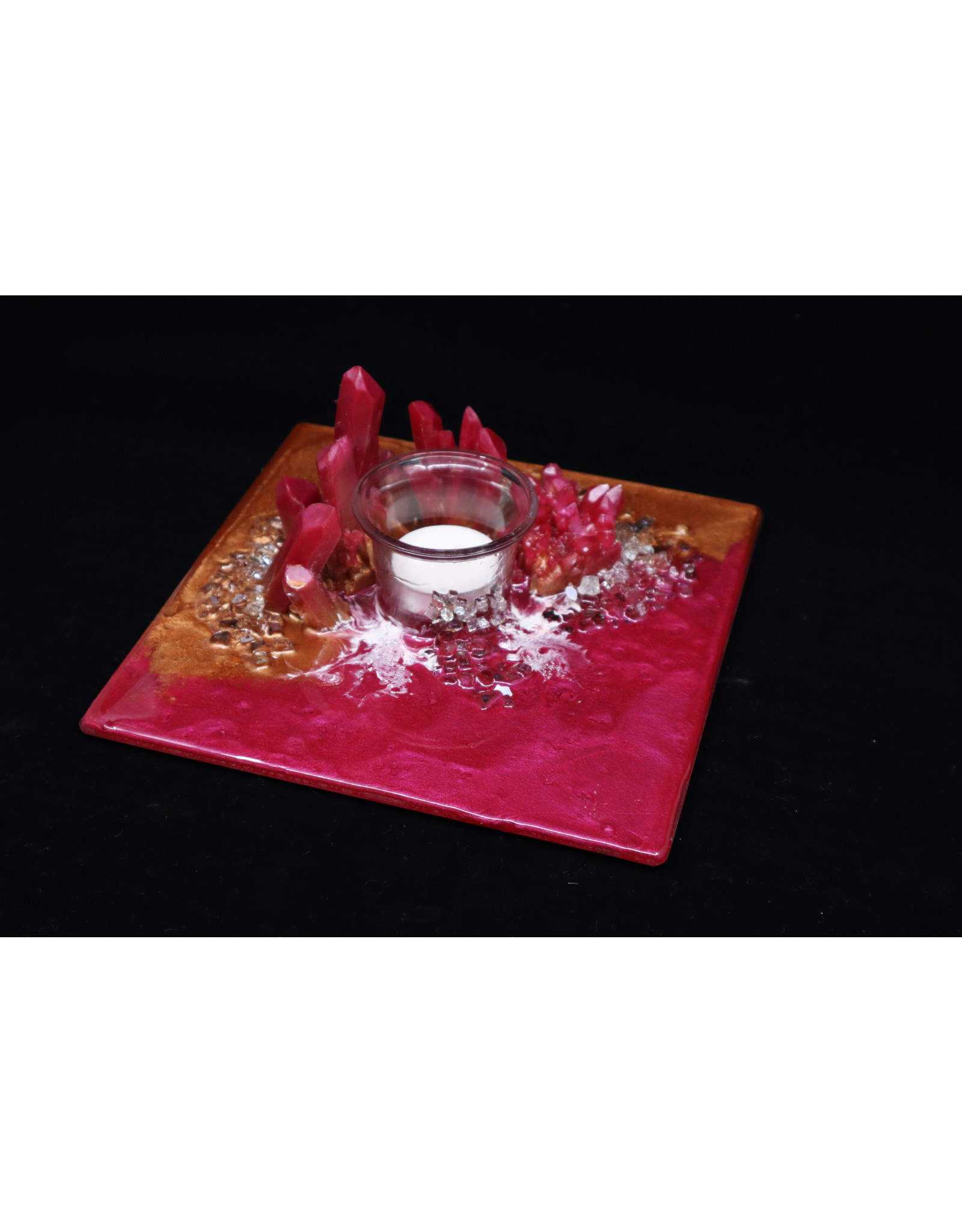 Resin Crystal Candle Plate #3