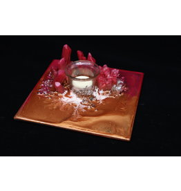 Resin Crystal Candle Plate #2
