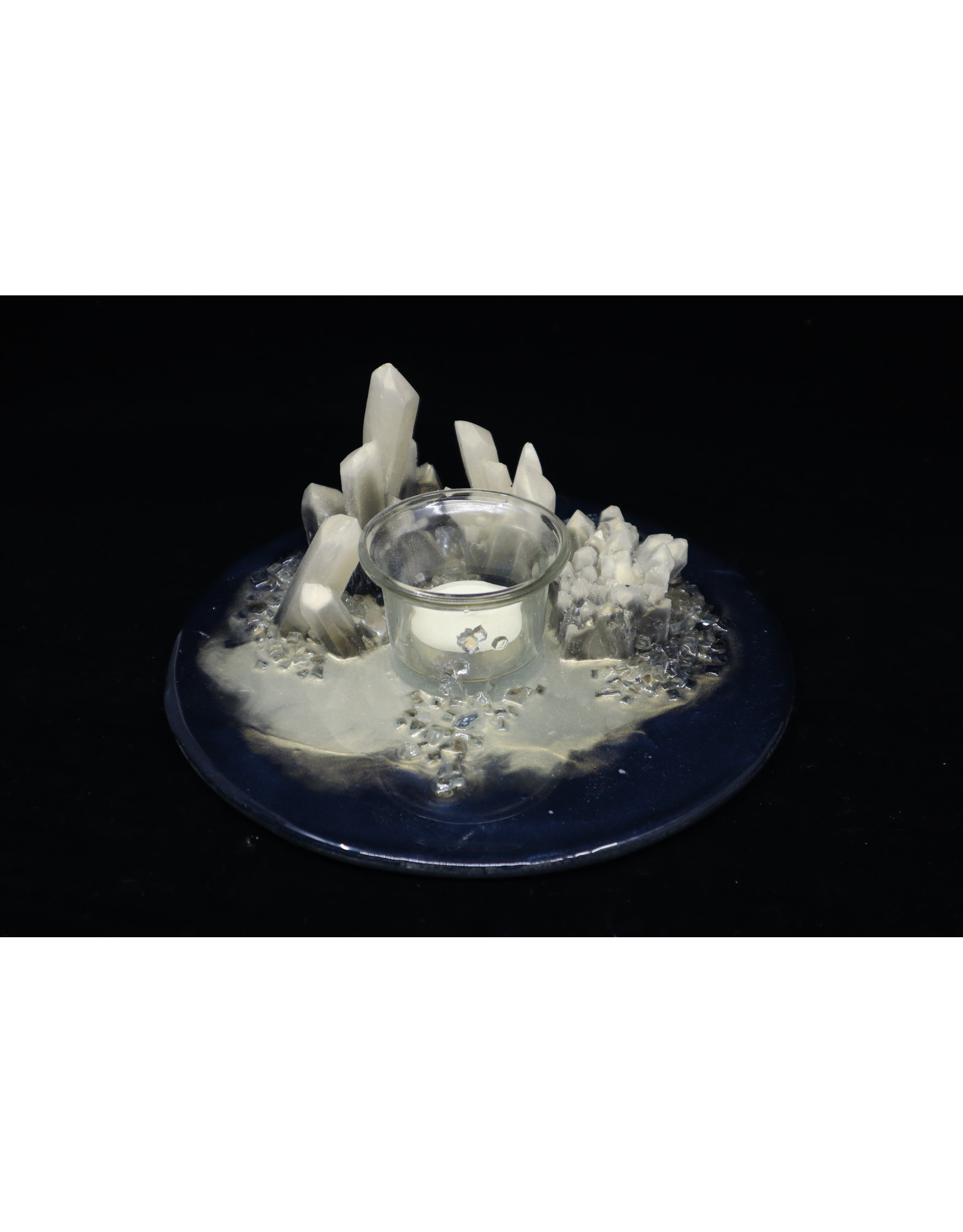 Resin Crystal Candle Plate #1