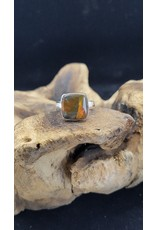 Ammolite Square 2 Ring - Adjustable