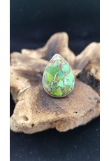 Green Copper Turquoise Tear Drop - Adjustable