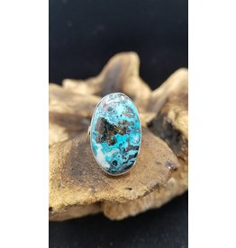 Azurite Oval Ring 1 - Adjustable