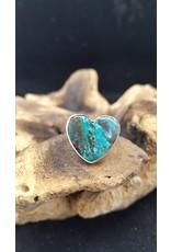 Azurite Heart Ring 1 - Adjustable