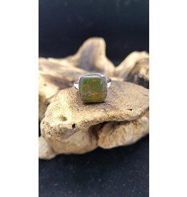 Ammolite Square 3 Ring - Adjustable