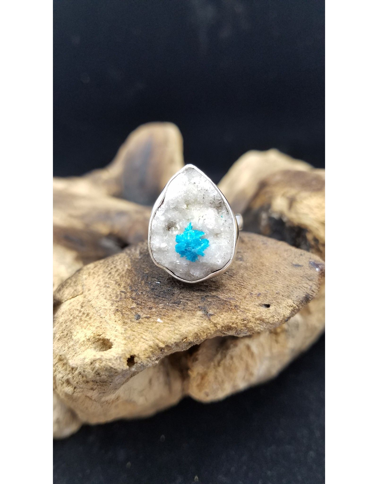 Cavansite Ring 1 - Adjustable