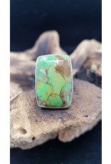 Green Copper Turquoise Ring 1 - Adjustable
