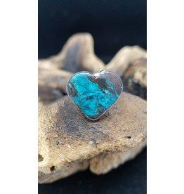 Azurite Heart Ring 2 - Adjustable
