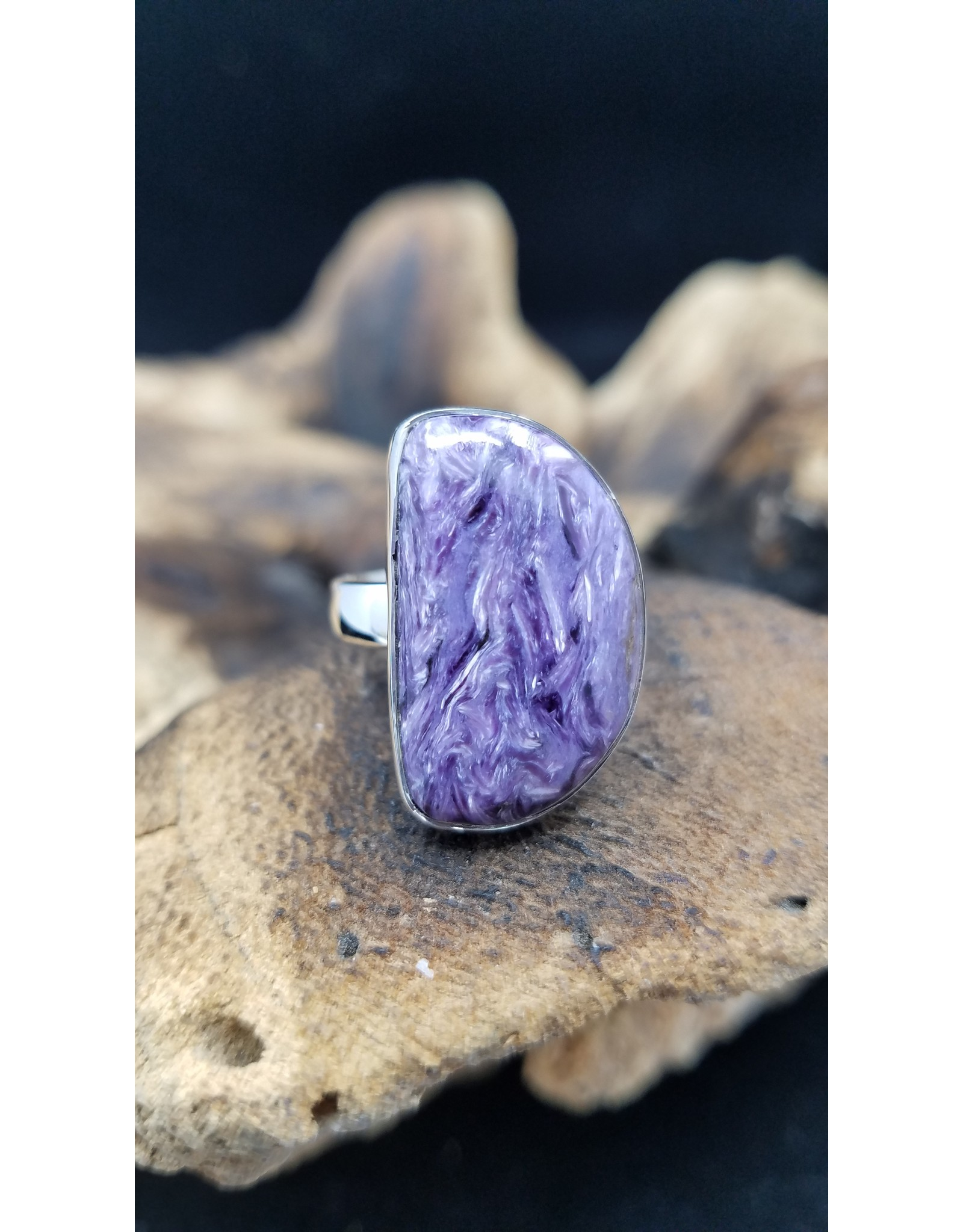 Charoite Ring 1 - Adjustable