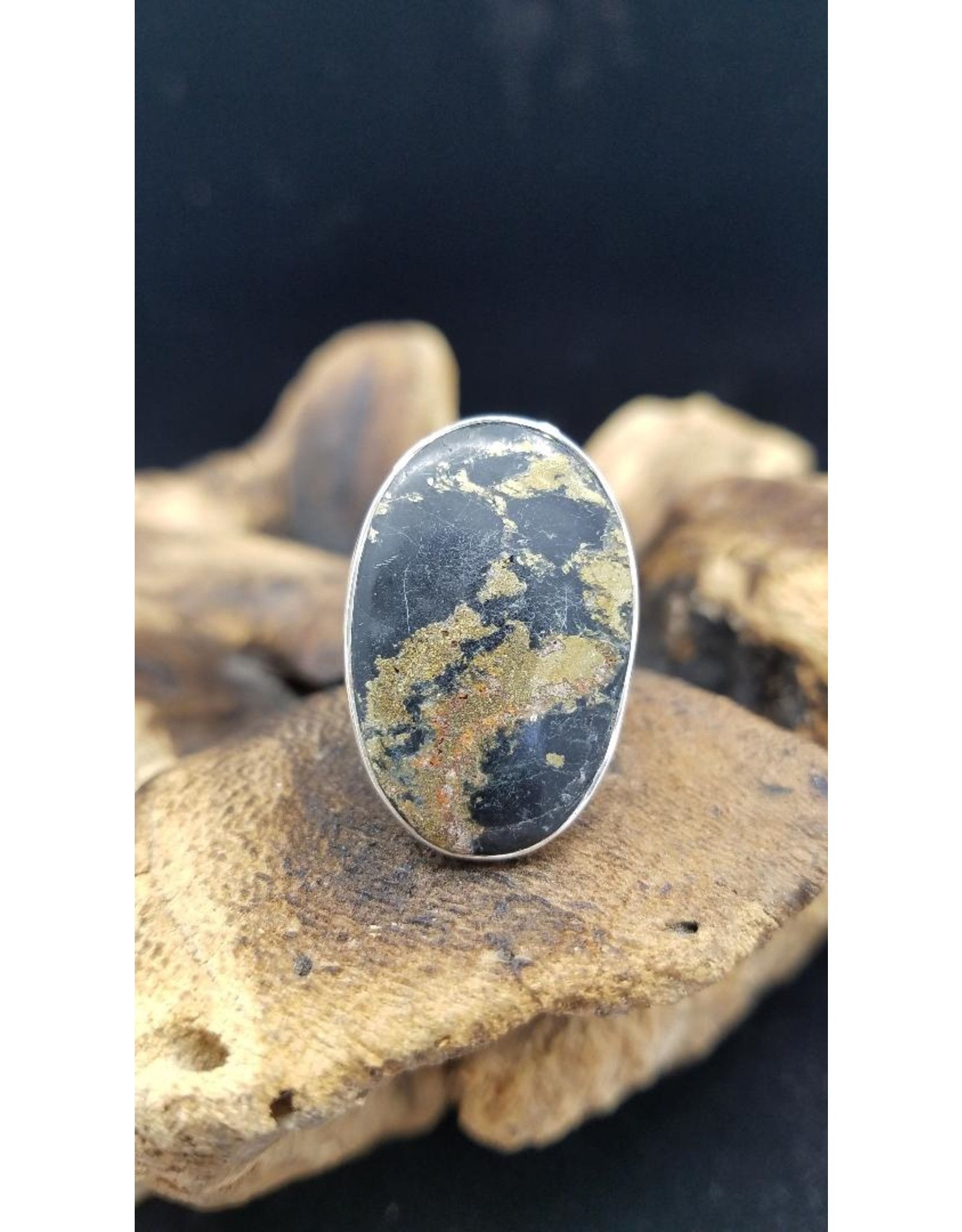 Apachi Gold Oval Ring 1 - Adjustable