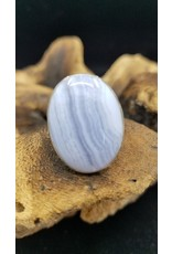 Blue Lace Agate Oval Ring 1 - Adjustable