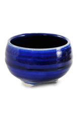 Round Cobalt Blue Ceramic Bowl Incense Stick Holder