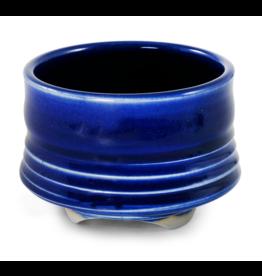 Contour Cobalt Blue Ceramic Bowl Incense Stick Holder