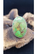 Green Copper Turquoise Ring 2 - Adjustable