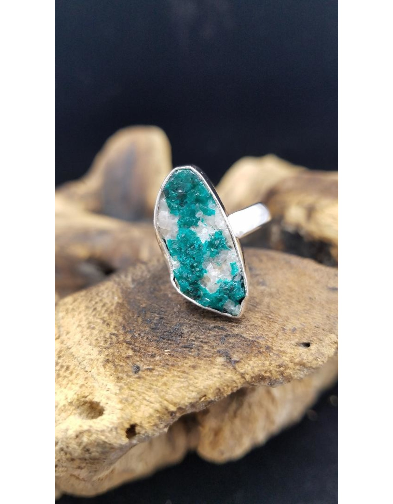Dioptase Druzy Ring 1 - Adjustable