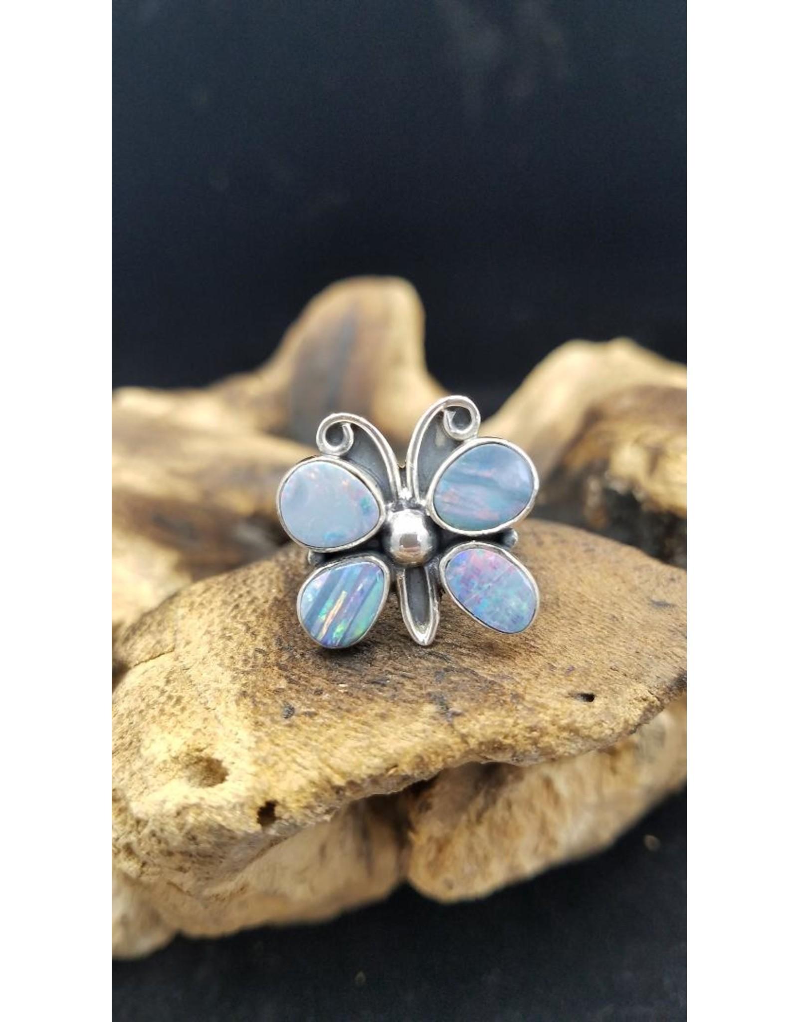 Australian Opal Butterfly Ring 1 - Adjustable