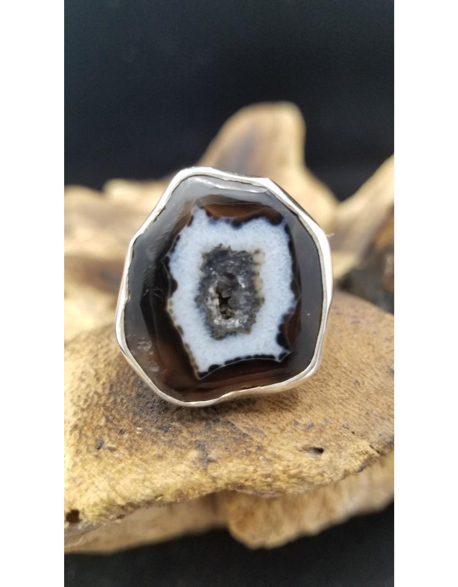 Black Agate Ring 3 - Adjustable