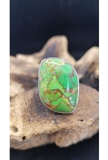 Green Copper Turquoise Ring 3 - Adjustable