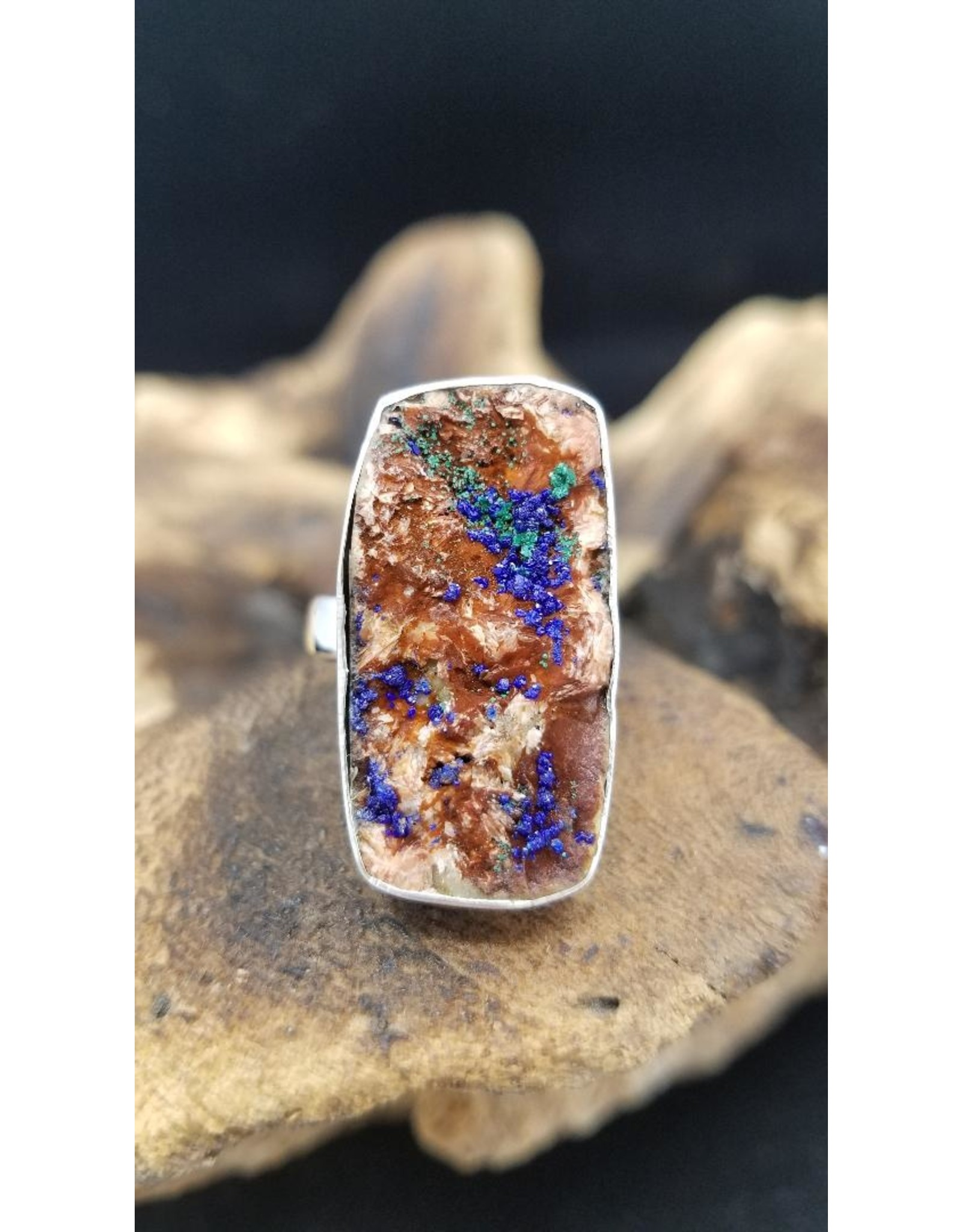 Azurite Druzy 2 Ring - Adjustable