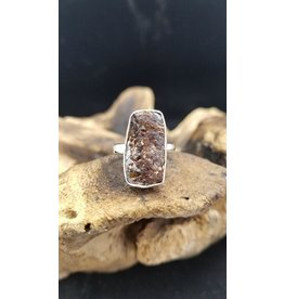 Astrophyllite Rectangle Ring 2 - Adjustable