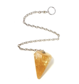 Faceted Citrine Pendulum