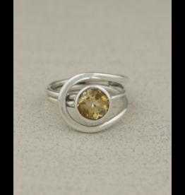 Citrine Gemstone Ring - Size 6