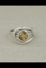 Citrine Gemstone Ring - Size 9