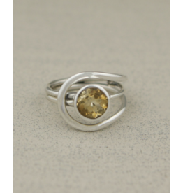 Citrine Gemstone Ring - Size 9