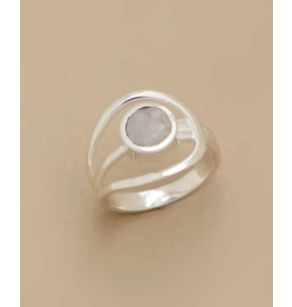 Moonstone Gemstone Ring - Size 6