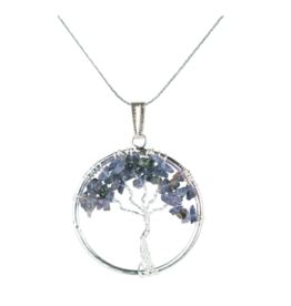 Tree of Life Necklace - Iolite (Silver)