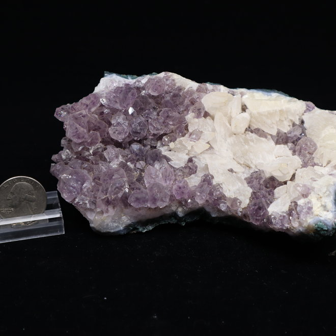 Amethyst w/Dogtooth Calcite #1