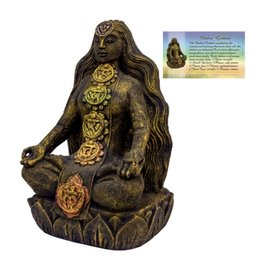 Volcanic Stone Statue - Chakra Goddess