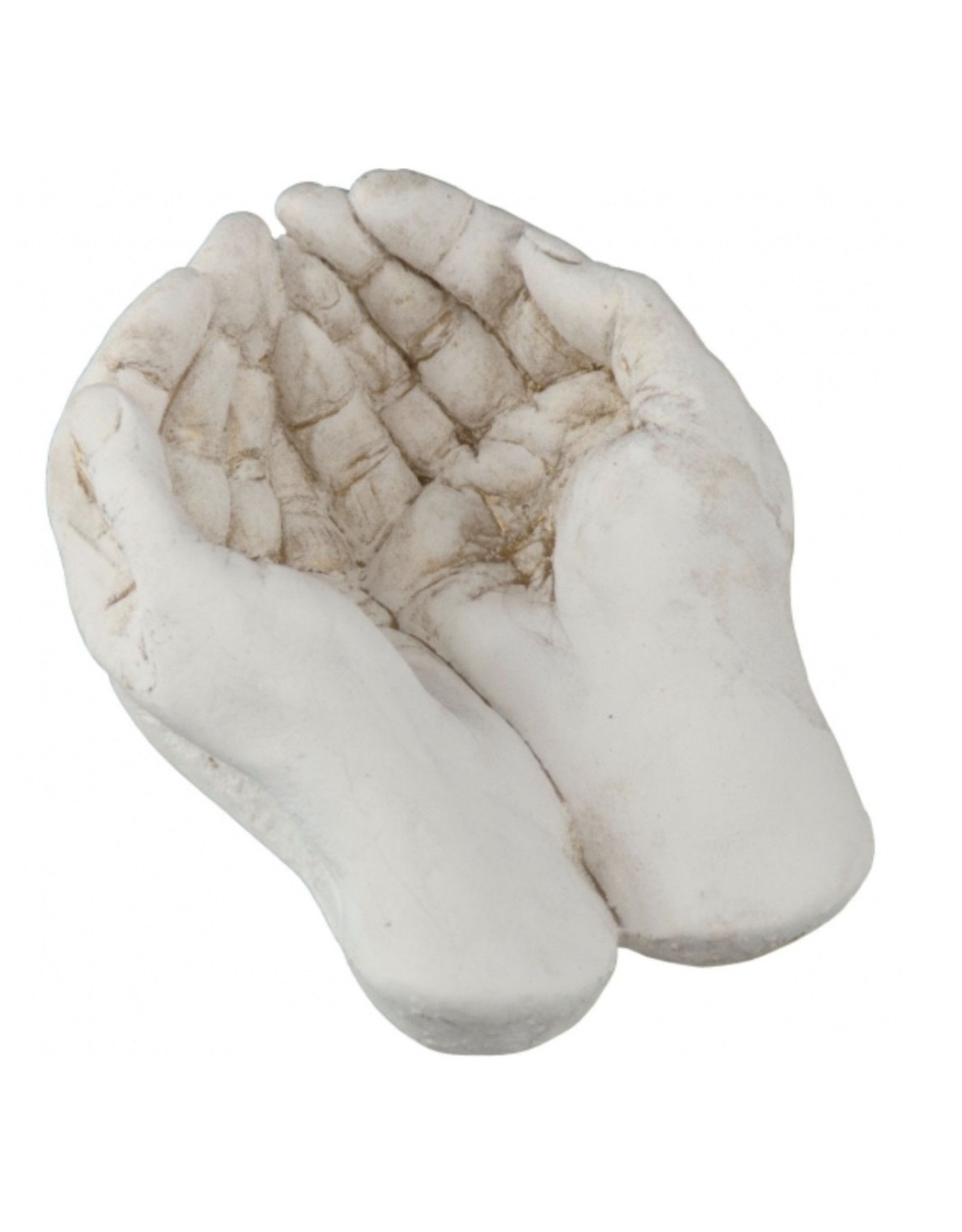 Gypsum Cement Figurine Gods Hands - Large
