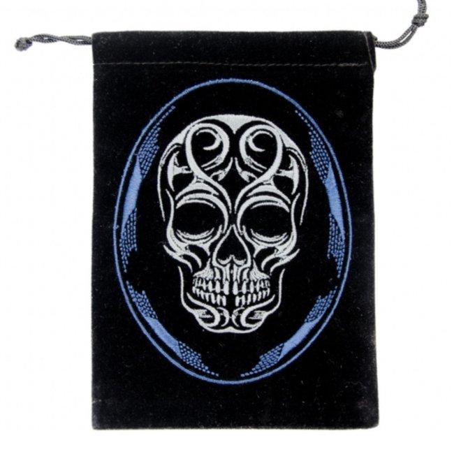 Velvet Tarot Card Bag Pouch - Skull