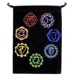 Velvet Bag Embroidered Chakras