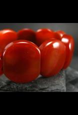 Carnelian Bracelet - 24mm Oval