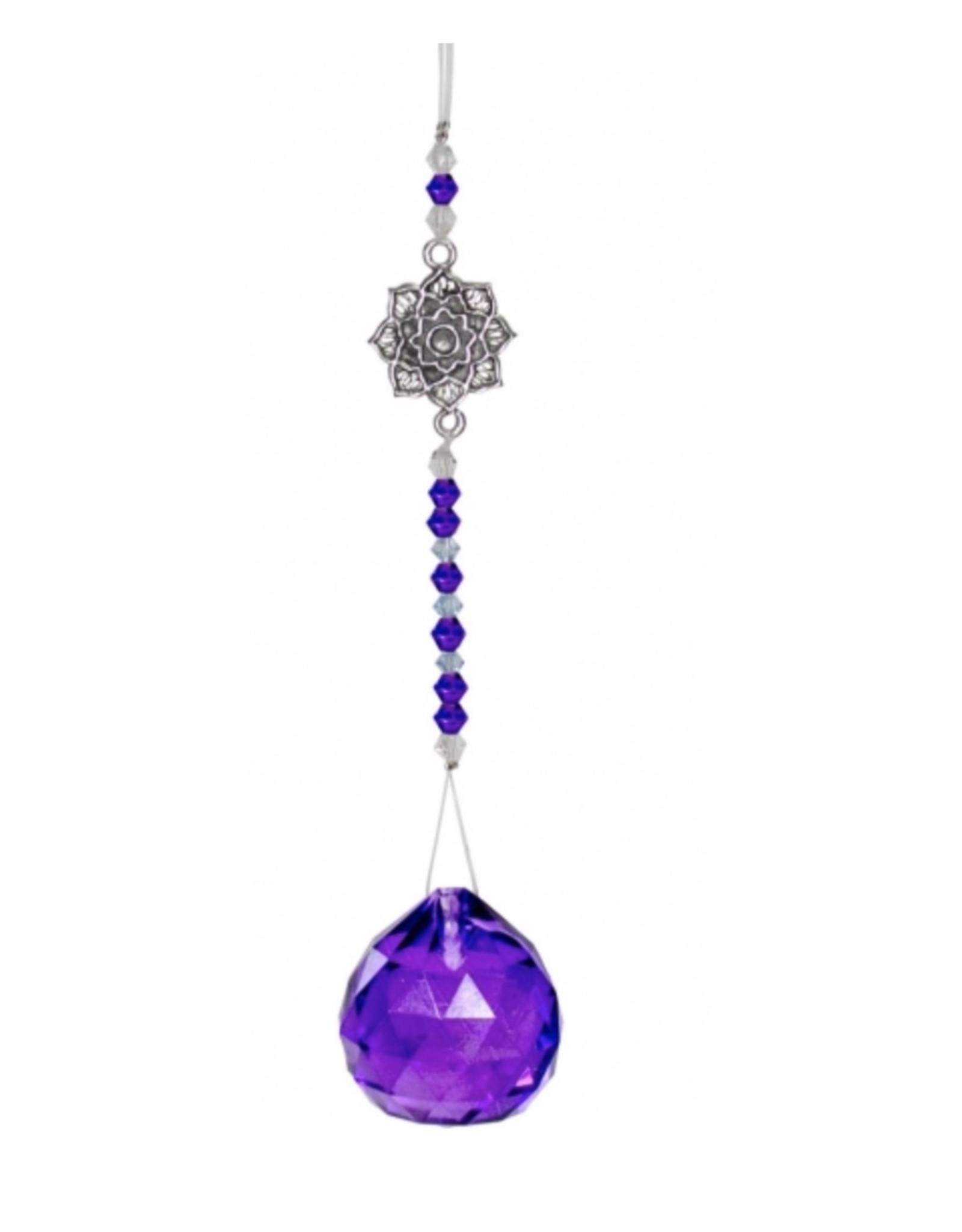 Hanging Crystal Lotus - Purple