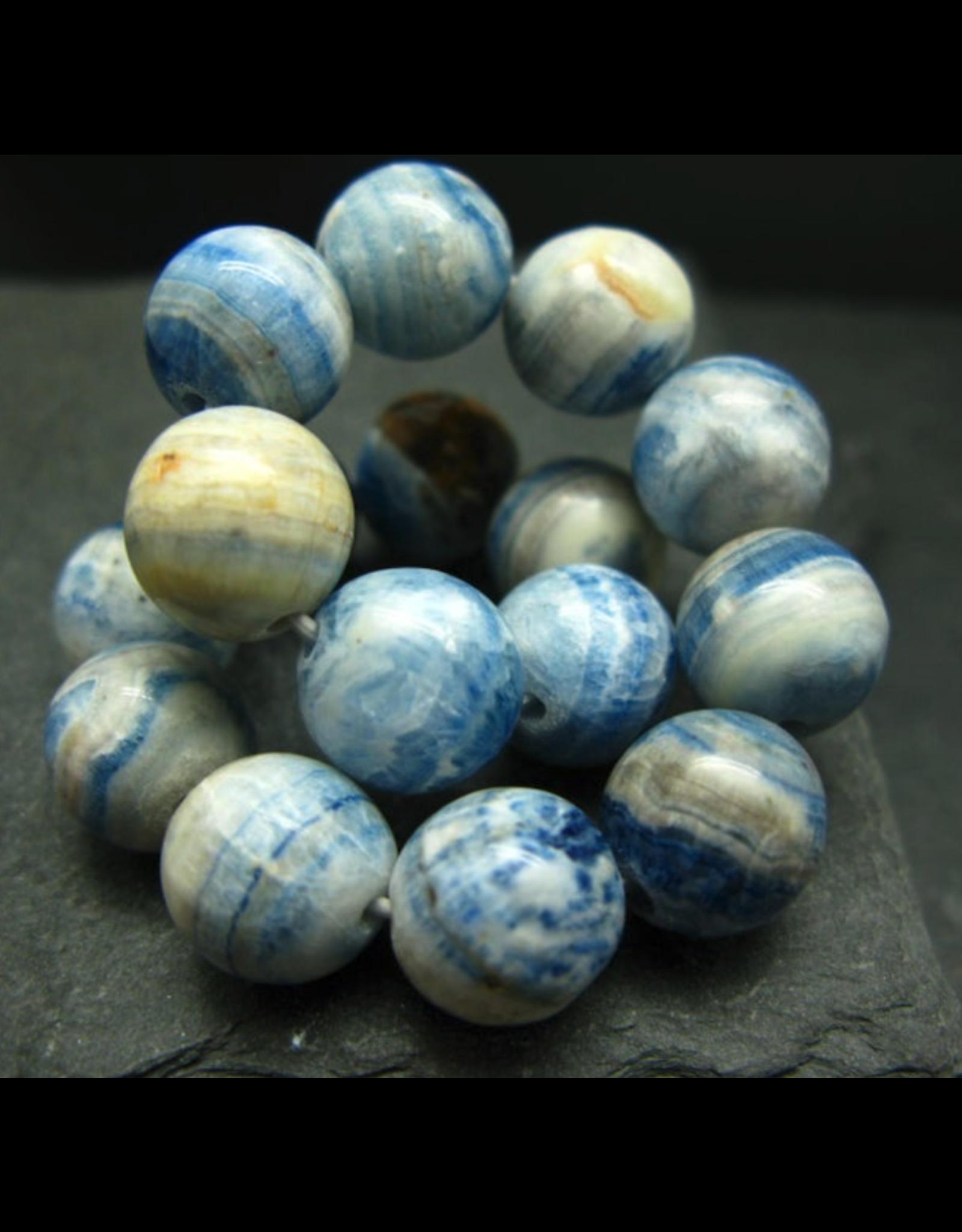 Blue Scheelite Bracelet - 10mm