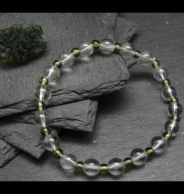 Satyaloka Azetzulite & Moldavite Genuine Bracelet  -5 & 8mm
