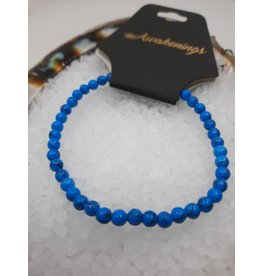 Syn. Turquoise Bracelet - 4mm