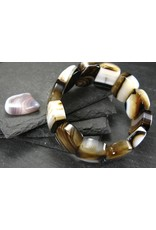 Agate Bracelet - 25mm Oval Beads