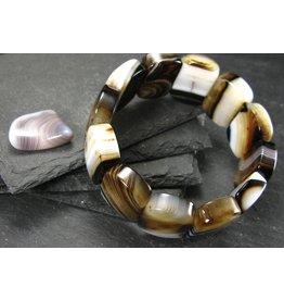 Agate Bracelet - 25mm Oval Beads