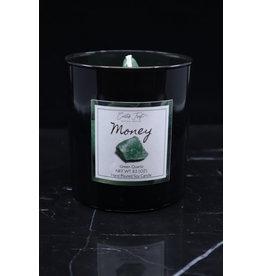 Money Candle - Green Quartz