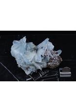 Blue Barite Cluster on Dolomite Specimen #3