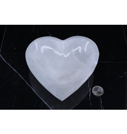 Selenite Heart Bowl - Large