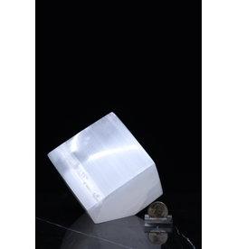 Selenite Spinning Cube