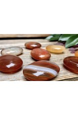 Banded Carnelian Palm/Pillow Stone