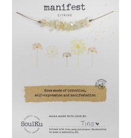 Seed Necklace - Citrine - Manifest