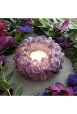 Amethyst Crystal Planter/Candle - Small