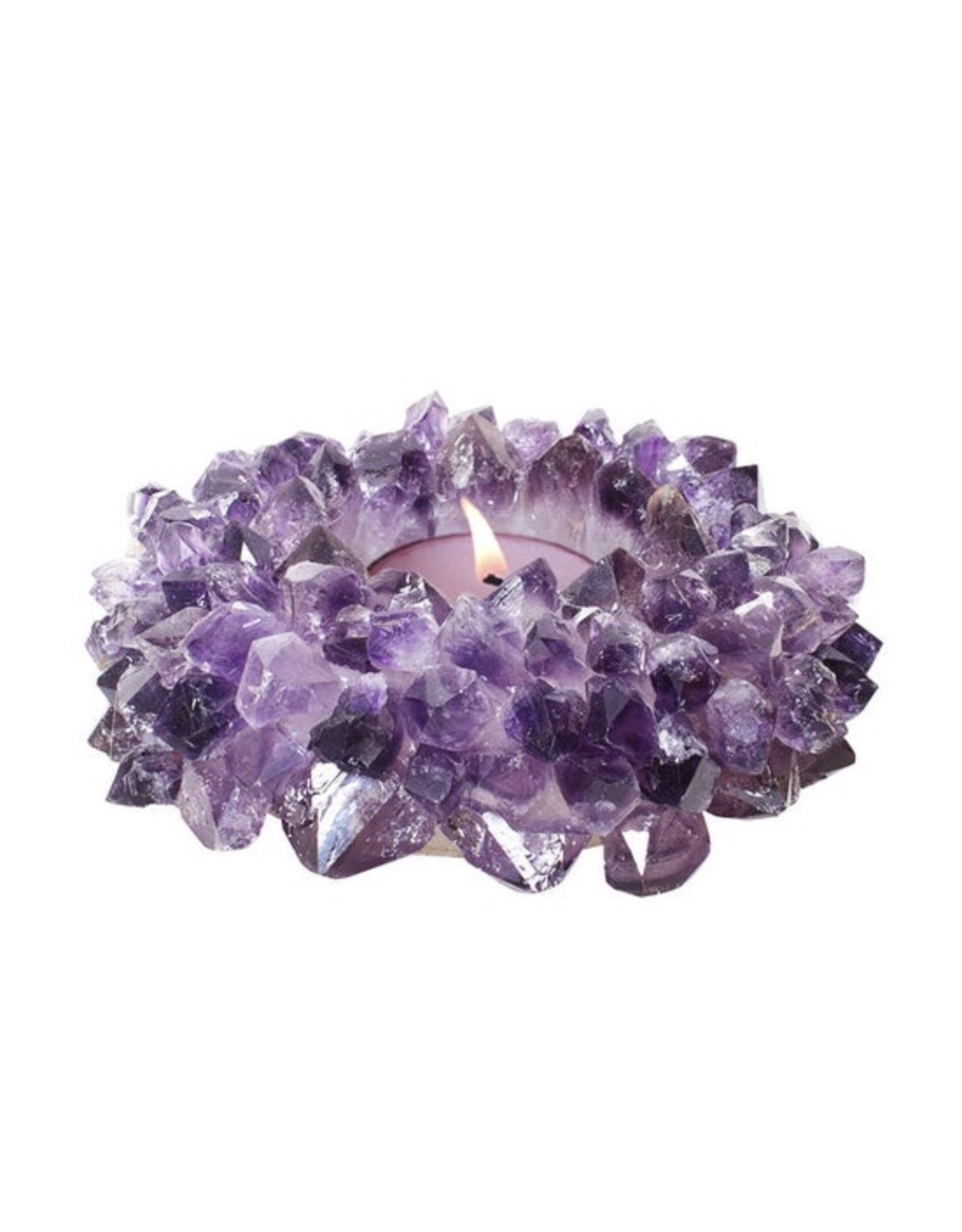 Amethyst Crystal Planter/Candle - Large