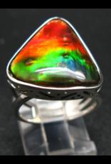 A+ Grade Ammolite Ring - Size 7